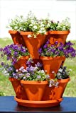 Mini Garden Stacker- Stackable & Hangable Planter / Flower Pot- Terra-Cotta