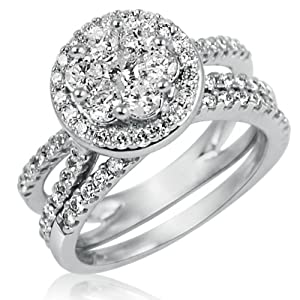 Engagement Wedding Ring Set