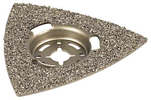 Wolfcraft 3994000 Triangular TCT Coated Sanding Plate for Concrete/ Plaster/ Stone/ Cement/ Tile Adhesive/ Wood/ Varnish