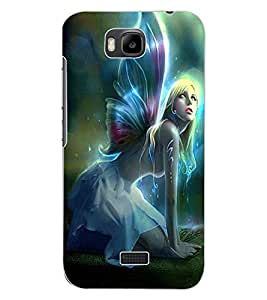 ColourCraft Beautiful Angel Design Back Case Cover for HUAWEI HONOR BEE