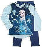 Frozen Pyjama Kollektion 2016 Die Eiskönigin 98 104 110 116 122 128 Schlafanzug Völlig Unverfroren Mädchen Lang Elsa Neu Blau