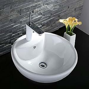 Ceramic Above Counter Basin Vessel Vanity Sink Art Basin Bathroom Sink ...