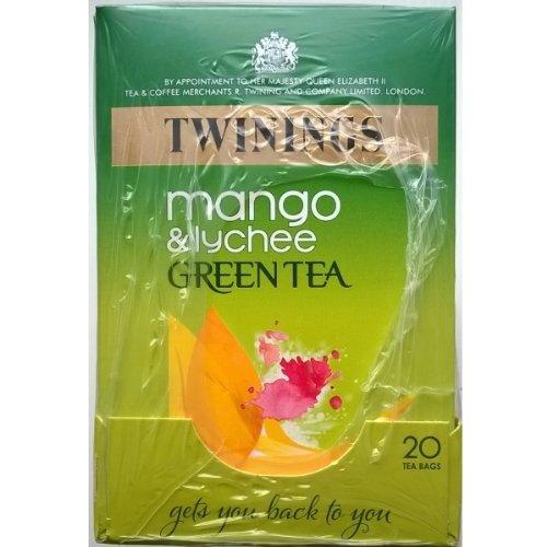 Twinings Mango & Lychee Green Tea Bags - 4 X 20'S
