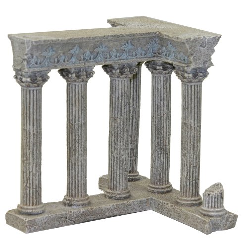 Exotic Environments Column Ruins Aquarium Ornament, 6-Inch by 6-Inch by 6-Inch