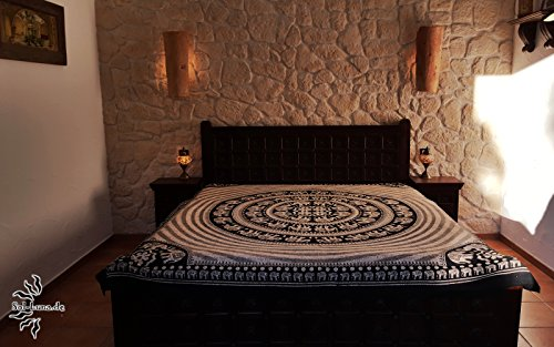 orientalische tagesdecke bett berwurf sofa berwurf eberwurf indischer plaid indien elefant. Black Bedroom Furniture Sets. Home Design Ideas
