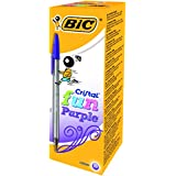 Bic Cristal Fun 1,6 Stylo-bille non rétractable Violet - Lot de 20 stylos