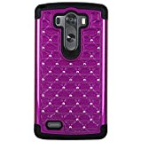 LG G3 Elegant Hybrid Deisgner Studded Diamond Cases Cover (Black/Purple) Reviews