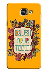 Blue Throat Brush Your Teeth Printed Designer Back Cover For Samsung Galaxy A5 2016
