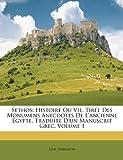 echange, troc Jean Terrasson - Sethos: Histoire Ou Vie, Tire Des Monumens Anecdotes de L'Ancienne Egypte, Traduite D'Un Manuscrit Grec, Volume 1