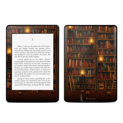 DecalGirl Decorative Skin/Decal for Kindle Paperwhite - Library