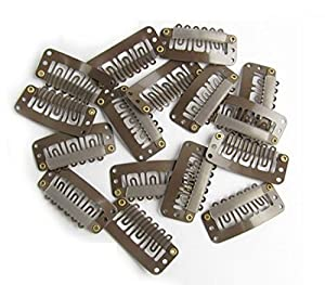 Tanya 100pcs Brown Snap Clips U-shape Metal Clips for Hair Extensions DIY Wholesale