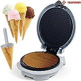 Macchina Per Preparare Coni Gelato e Cialde Wafer Waffle Wafle Antiaderente Ice Cream Cone Maker 750W Telefunken