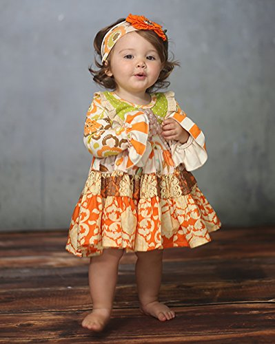 Thankful Hearts Party Dress - Giggle Moon 2T