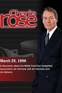 Charlie Rose with Billy Packer & Mike Krzyzewski; Jim Boeheim (March 29, 1996)