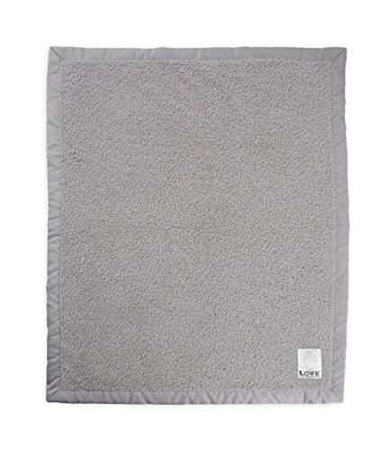 Little Giraffe Cherish Satin Blanket, Silver