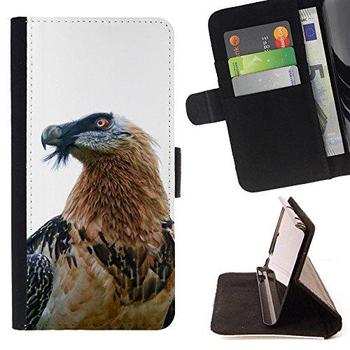- hawk eagle bird nature white beak feather - - PU Premium Custodia portafoglio in pelle con fessure per carta, contanti staccabile cinturino da pol Funny HouseFOR LG Nexus 5 D820 D821
