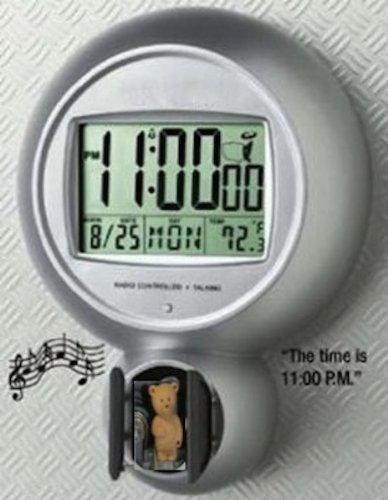 Radio Controlled Talking Digital Cuckoo Wall Clock
