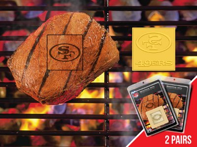 FANMATS NFL San Francisco 49ers Metal-Alloy 2-Pack FanBrands at Amazon.com