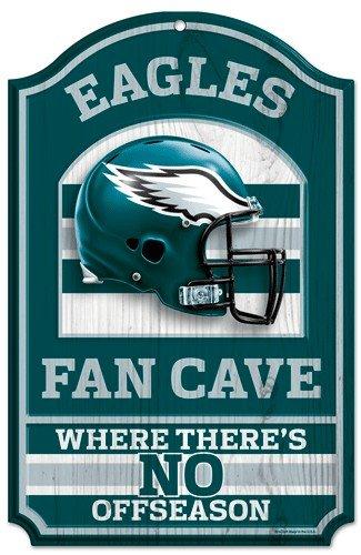 Nfl Philadelphia Eagles 11'' X 17'' Fan Cave Wood Sign front-560991