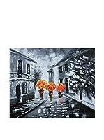 Legendarte Pintura al Óleo sobre Lienzo A Spasso Quando Piove
