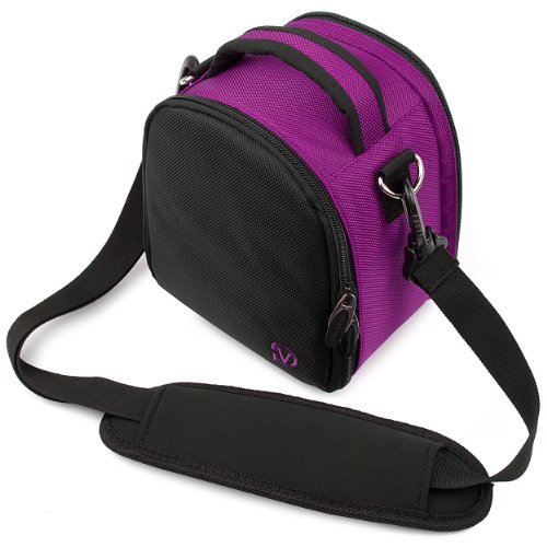 Vangoddy discount duty free Plum Purple VanGoddy Laurel SLR Camera Carrying Bag for Nikon D5200 24.1 MP CMOS Digital SLR Camera