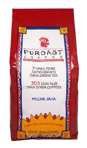 Puroast peu acides café Mocha Java Café
