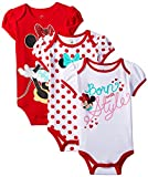 Disney Baby Girls' Minnie Mouse Bodysuit (Pack of 3)