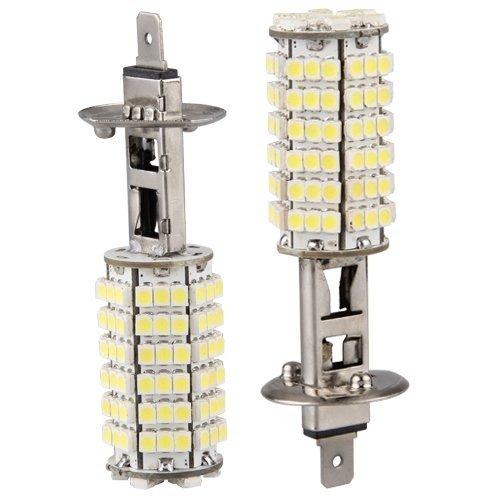 Sonline 2 x H1 Car White 120 LED 3528 SMD Driving Head Light Bulb Lamp Fog Beam (H1 Driving Light compare prices)