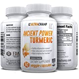 Ancient Turmeric Containing Curcumin - Powerful Anti Inflammatory - This Blend Promotes Brain Health & Assists in Weight Loss By Improving Digestion and Balancing Blood Sugar & Cholesterol - Turmeric root Extract Has No Negative Side Effects - Order Risk Free With Ultrachamps Gaurantee