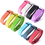 """XCSOURCE® 10PCS Replacement Wrist Band Wristband Strap for Fitbit Flex w/ Clasps No Tracker (size: (6.4"""" - 8"""") TH066"""