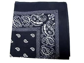 Bandanas by the Dozen (12 units per pack, 100% cotton) - Navy