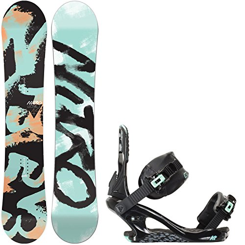 Nitro Lectra 146cm Womens Snowboard + K2 Yeah Yeah Bindings - Fits US Wms Boots Sizes: 6,7,8 (Snowboard Package 146 compare prices)