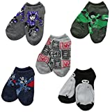 Disney Little Boys' 5 Pack Big Hero 6 No-Show Socks, Assorted, One Size/6-8.5