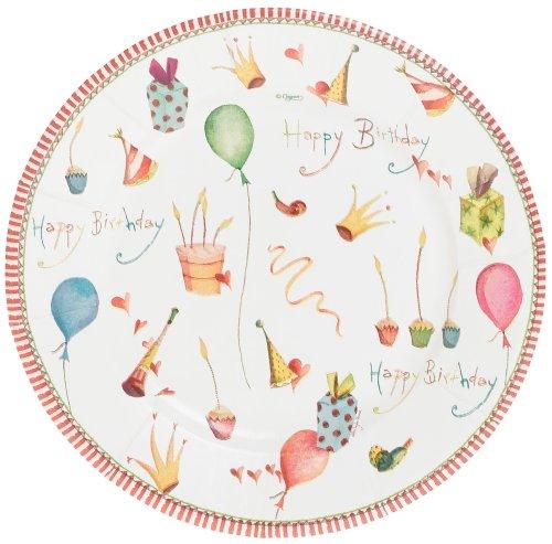 Buy Caspari Happy Birthday Set of 8 Paper Salad Plates