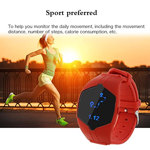Bluetooth Smart Watch BEISTE X6 Benchmark of Wristwatch Phone Mate for Smartphones IOS iPhone and Android Phone (Red)
