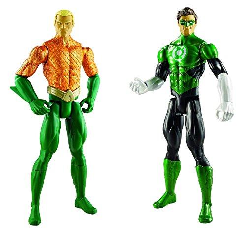 Super Hero Aquaman vs Batman Green Lantern 12-inch Action Figures Toys, 2 Pack