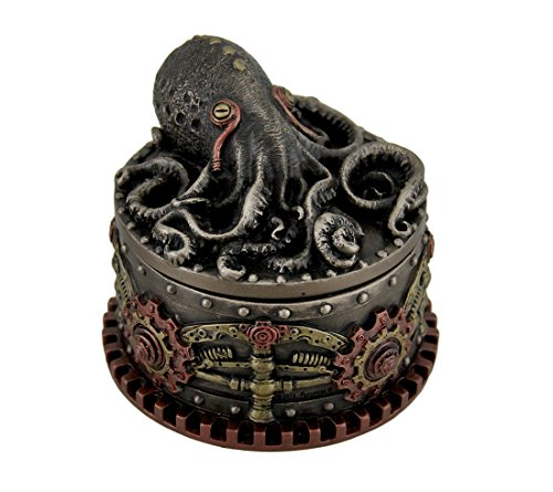 Decorative Steampunk Octopus Trinket Box