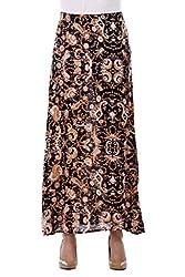 Bonhomie Women Skirts [BCQSB44_Black Print_Extra Small]