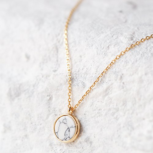 minimal-white-marble-coin-necklace-white-howlite-gemstone-necklace