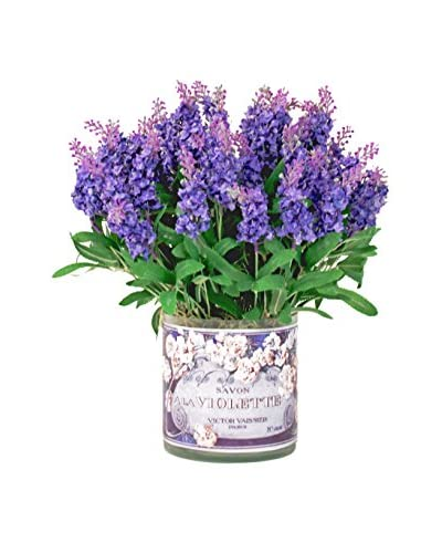 Creative Displays Mountain Lavender Decoupage Pot, Purple/Green
