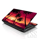"""LSS 15 15.6 inch Laptop Notebook Skin Sticker Cover Art Decal Fits 13.3"""" 14"""" 15.6"""" 16"""" HP Dell Lenovo Apple Asus Acer Compaq (Free 2 Wrist Pad Included) Hawaiian Paradise Palm Tree"""