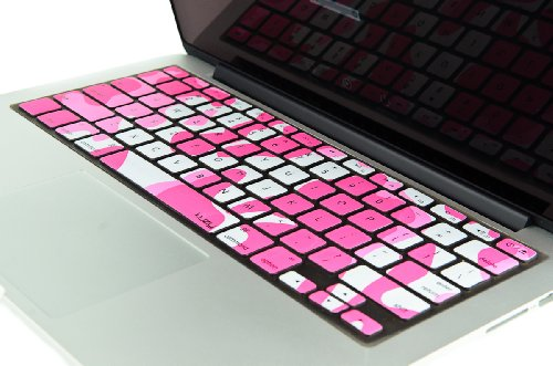 "Kuzy - Army Pink Camouflage Keyboard Silicone Cover Skin For Macbook Pro 13"" 15"" 17"" (With Or W/Out Retina Display) Imac And Macbook Air 13"" - Pink Camo"