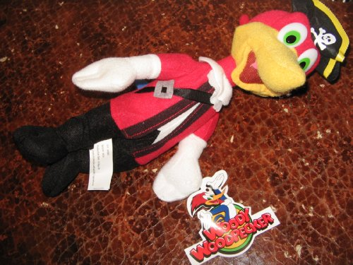 "10"" Woody Woodpecker Pirate Plush"