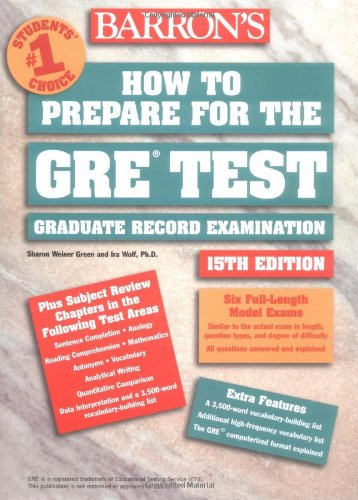 How to Prepare for the GRE Test (Barron's GRE)