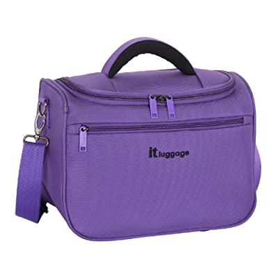IT Luggage Purple Lightweight Vanity Case from IT LUGGAGE