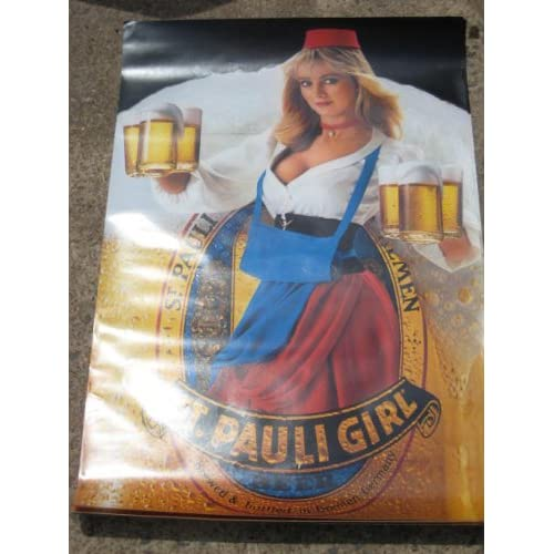 "Amazon.com : Vintage 1984 "" St Pauli Girl "" Beer Advertising Poster 32"
