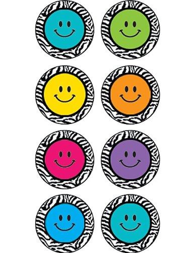 Teacher Created Resources Zebra Happy Faces Mini Stickers (5396)