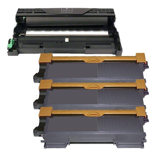 (1 Drum + 3 Toner) Inktoneram® Replacement Toner Cartridges & Drum For Brother Tn450 Dr420 Toner Cartridges & Drum Replacement For Brother Dr-420 Tn-450 Set