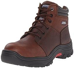 Skechers for Work Men\'s Burgin Work Boot, Dark Brown, 11 M US