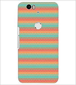 PrintDhaba Pattern D-5180 Back Case Cover for HUAWEI NEXUS 6P (Multi-Coloured)